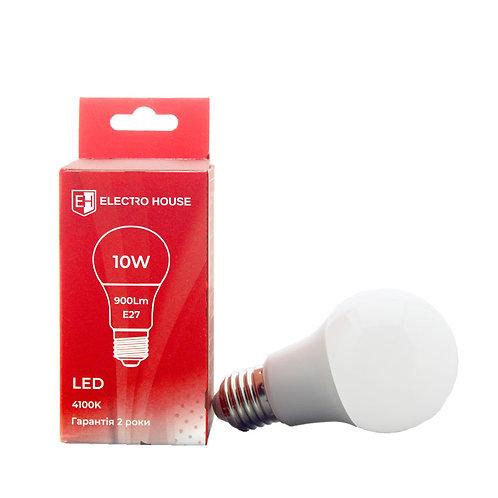 LED лампа  E27/ 4100K / 10W 900Lm /220° A60