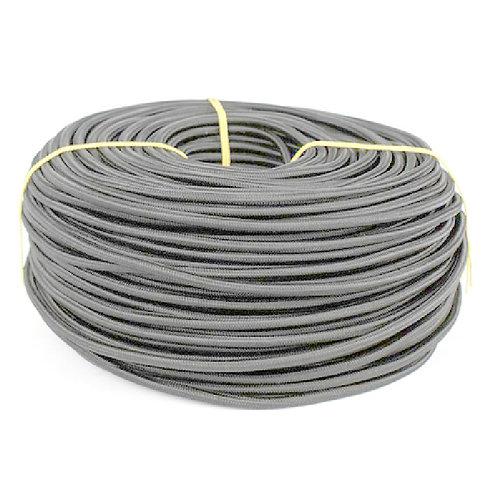 Провод  в текстильной оплетке 2х0,5 серый