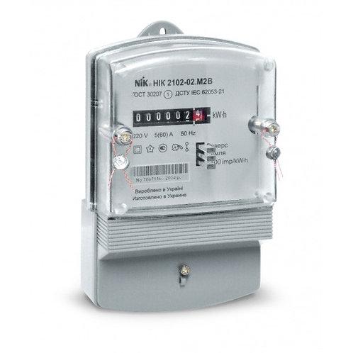 Счетчик однофазный НІК 2102-04 M2B 5-50А (НІК 2102-04 M2B) электромеханический.