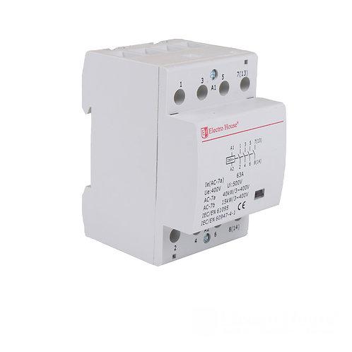 Контактор модульный 4P 63A 220-230V IP20 4НО