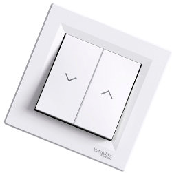 Asfora - кнопка управления рулонными шторами от Schneider Electric, белый