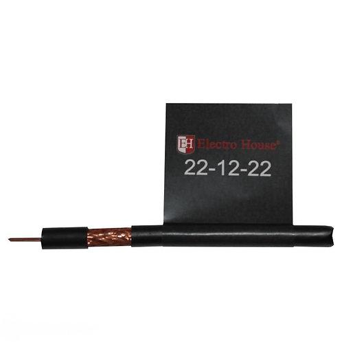 Телевизионный (коаксиальный) кабель RG-6U CCS 102 Cu черный ПЭ
