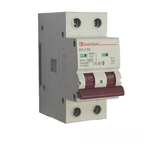 Автоматический выключатель 2P 50A 45kA 230-400V IP20