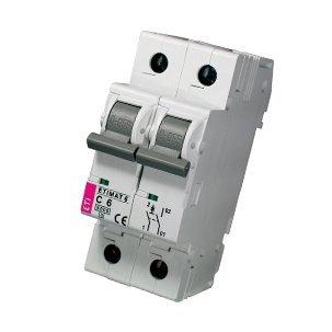 Модульный автоматический выключатель ETIMAT 6 1p+N B6