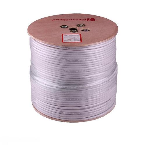Телевизионный (коаксиальный) кабель RG-6U Cu 102 Cu  белый ПВХ