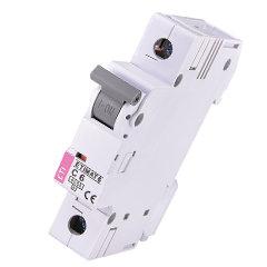 Модульный автоматический выключатель ETIMAT 6 1p C6