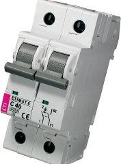 Модульный автоматический выключатель ETIMAT 6 1p+N С 40