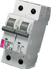 Модульный автоматический выключатель ETIMAT 6 1p+N С 20