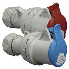 Розетка кабельная ES 3243, 3+PE, IP44, 32А