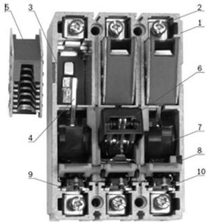 Конструкция силового автоматического выключателя серии ВА88-32 100 А