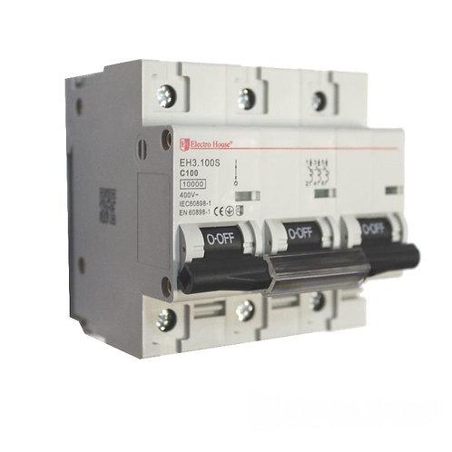 Автоматический выключатель силовой 100A 45kA 230-400V IP20