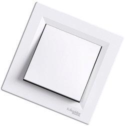 Asfora - промежуточный выключатель перекрестный, белый от Schneider Electric