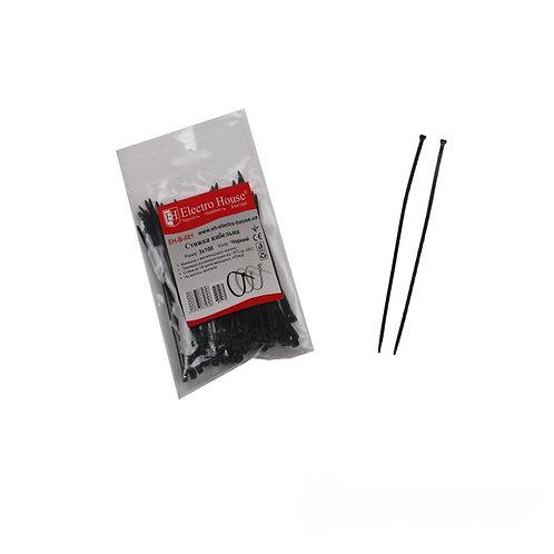Стяжка кабельная чёрная 3x100