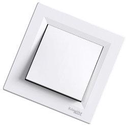 Asfora -1 полюсный выключатель, безвинтовые клеммы Schneider Electric, белый