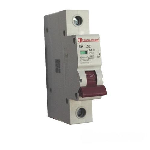 Автоматический выключатель 1P 32A 45kA 230-400V IP20