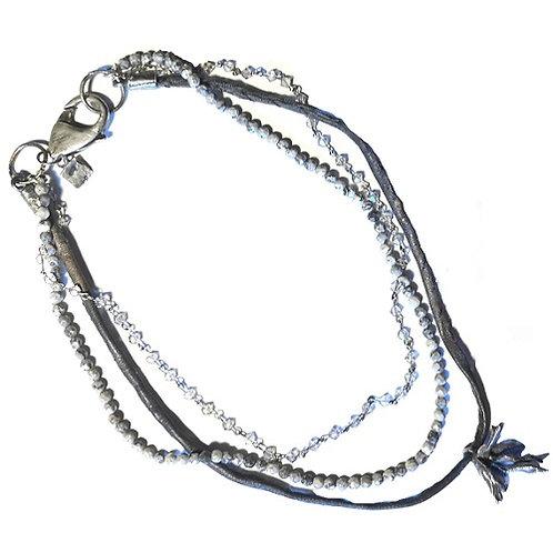 silver necklace FleurDuMal