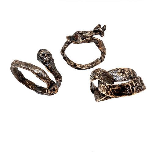 Con-fusione gioielli: napkin ties bronzino
