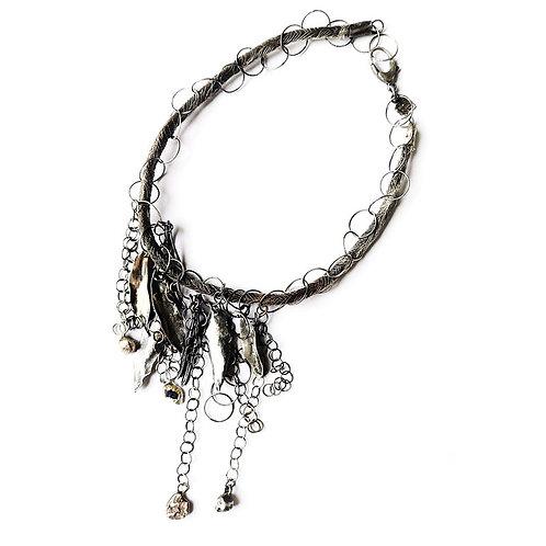 silver necklace Saffall