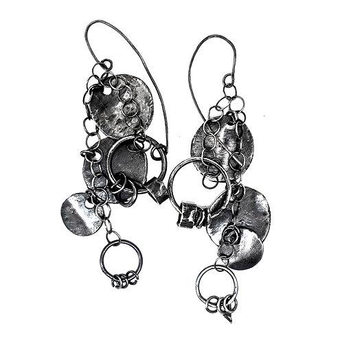 silver earrings RockEar