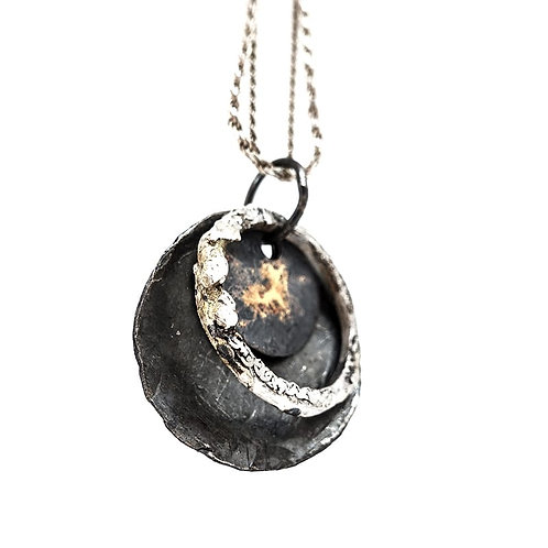 silver necklace ecLipse