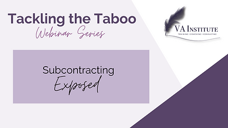 Tackling the Taboo - Subcontracting expo