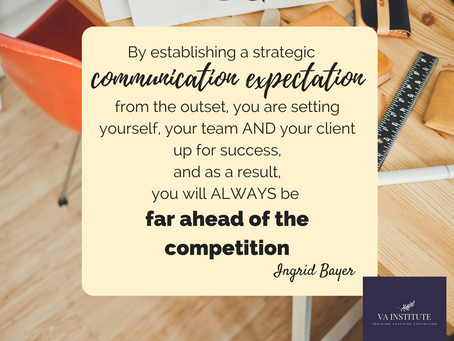 It Really is All About Communication