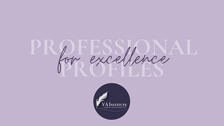 Professional Profiles for Excellence Web