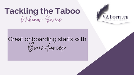 Great Onboarding Starts with Boundaries.