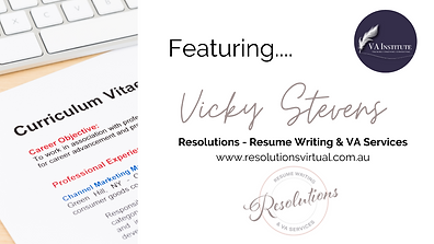 Vicky Stevens - Resolutions - Resume Wri