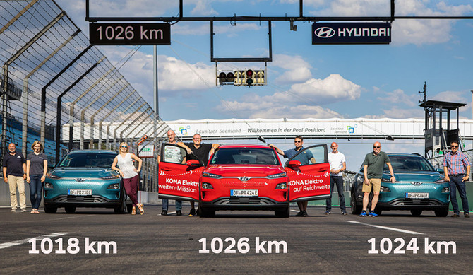 Hyundai Kauai Electric estabelece recorde de autonomia: 1026 km