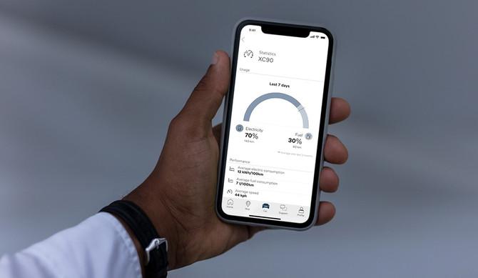 """Novas funcionalidades na aplicação """"Volvo on Call"""""""
