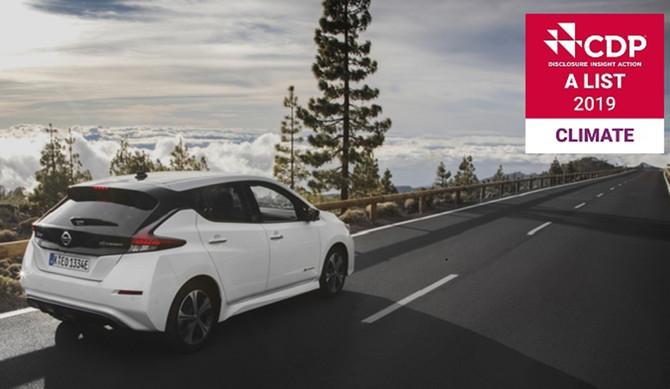 Nissan: liderança no combate às alterações climáticas reconhecida