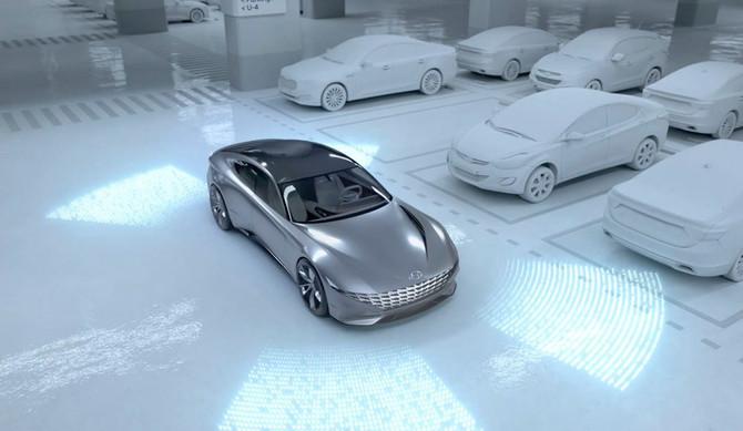 Hyundai revela conceito de carregamento autónomo