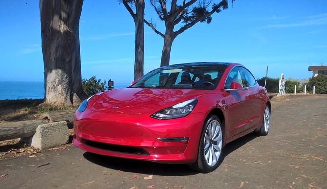 Na Califórnia com o Tesla Model 3