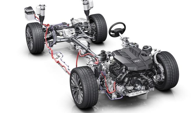 Audi A8: sistema elétrico poupa combustível
