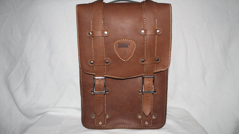 Rugged Leather Backpack