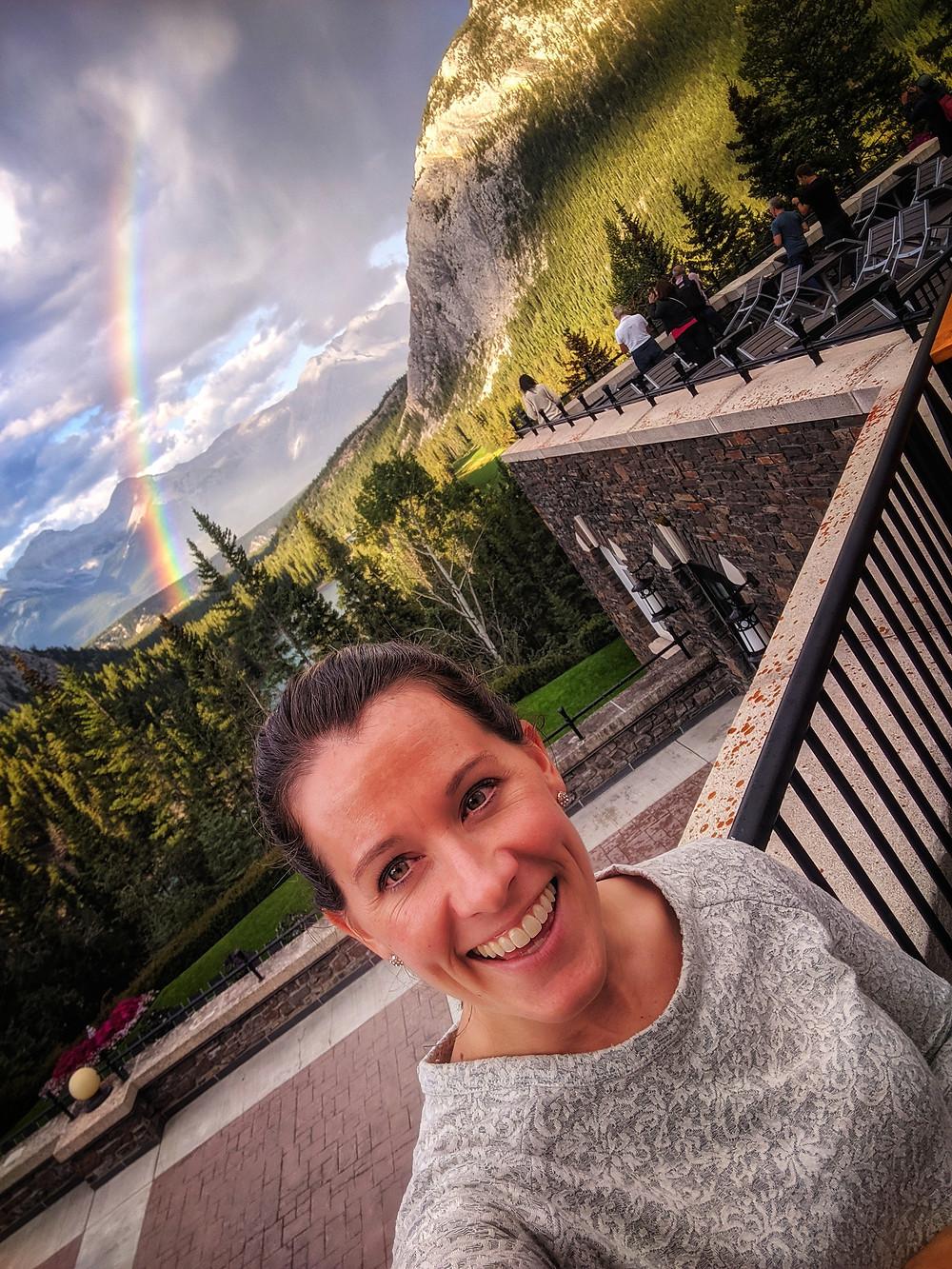 rainbow, Banff, Canada, Banff Hotel, mountains