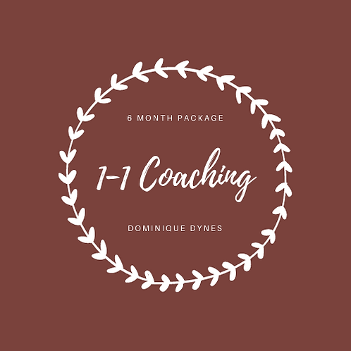 1-1 Coaching 6 Month Package
