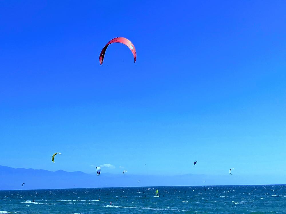 kite surfing, wind surfing, Bucerias, playa Bucerias