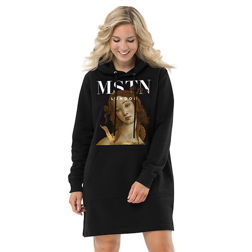 Botticelli Unwrapped Eco-Hoodie dress by MSTN London