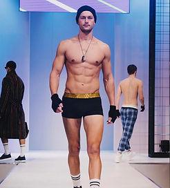 London fashion week sexy male model british underwear brand