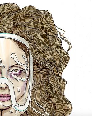 Lady Gaga Illustration by Achraf Amiri