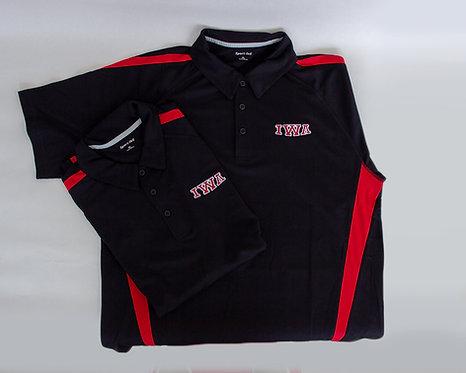 Mens Red/Black Sport-Tek® Micro-Mesh Polo