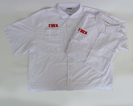 White Short Sleeve Fishing Shirt