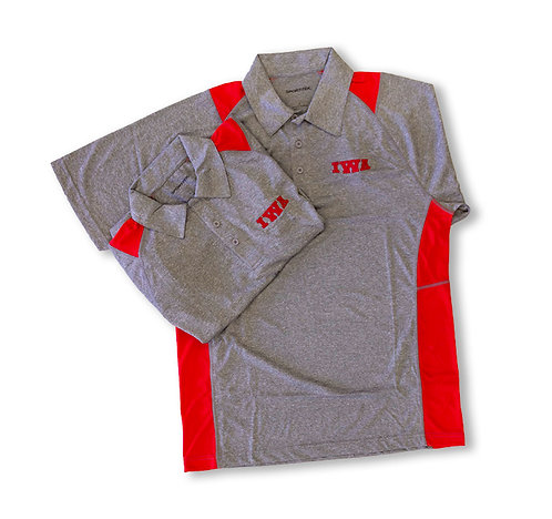 IWA Grey & Red Men's Polo