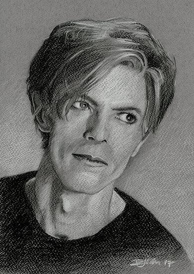 Bowie Drawings – Schapiro Portrait