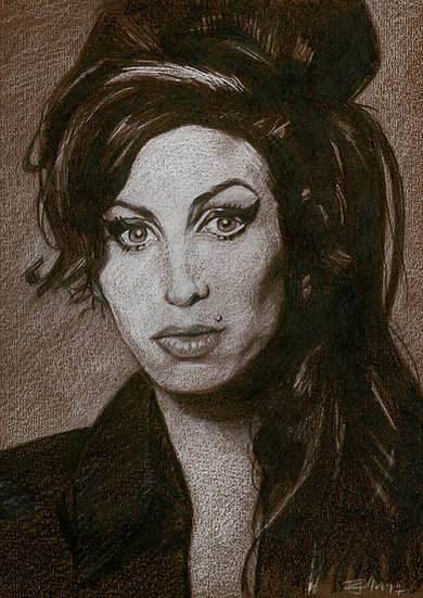 Drawn Pop Stars – Amy Winehouse