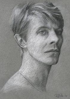 Bowie Drawings – Snowdon Portrait