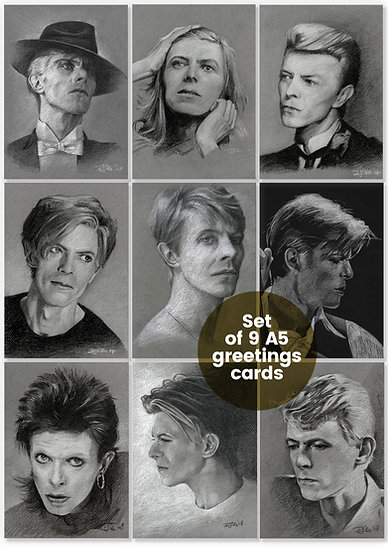 David Bowie Drawings – Greetings Card and Postcard Sets