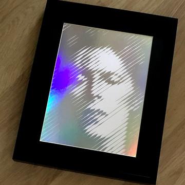 Ziggy 4 – Silver on White